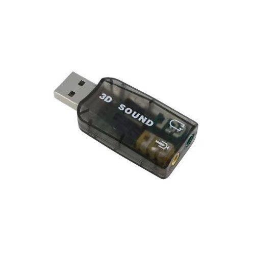 TOOGOO(R) Augenblicklich Extern 5.1 USB 3D Audio Soundkarte Adapter fuer PC Desktop Notebook Laptopcreates ein Mikrofon-Eingang und Audio-Buchse-Ausgang von einem beliebigen PC USB-Port
