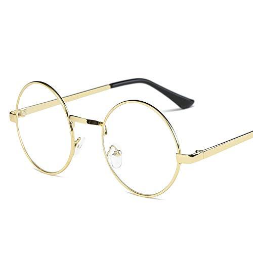 YLNJYJ Runde Brillenfassungen Für Frauen Markendesigner Sonnenbrille Rahmen Klare Linse Harry Potter Brille Gafas Retro Transparente Brille