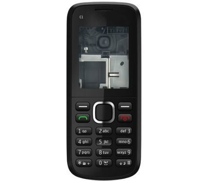 BLUTECH Replacement Full Body Housing Panel For Nokia C1- Black  available at amazon for Rs.219