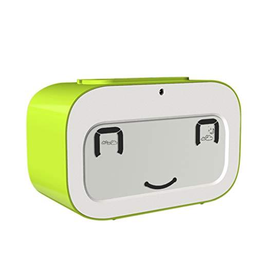 YULAN Despertador Luz de la Noche Silencio Posponer Simple Casa de Moda Multifuncional Personalidad Creativa 4 Colores Opcional 103MM * 46MM * 63MM (Color : Green)