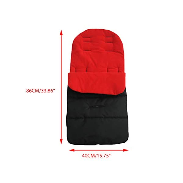 DENGHENG Multi-Function Baby Stroller Sleeping Bag Children Kids Trolley Thickened Swaddl DENGHENG ❤ Baby carriage sleeping bag, Multi-functional universal stroller sleeping bag. ❤ Made of high quality oxford and fleece, it is warm, windproof and waterproof. ❤ Removable, easy to clean, adjustable, adjust the position according to your baby's length. 6