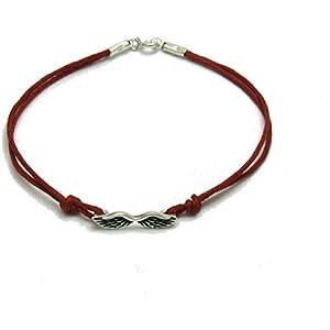 Sterling silber armband Engel Flügel mit roter string 925 Empress jewellery