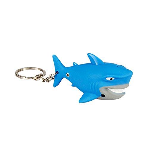 Preisvergleich Produktbild Yaxitu Neuheit Hai LED KeyChain Schlüsselring Licht und Ton