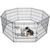 PEEKABOO Laufstall Hund Zaun faltbar Übung Stift-Yard für Katzen Kaninchen Puppy Indoor Outdoor-61cm schwarz -