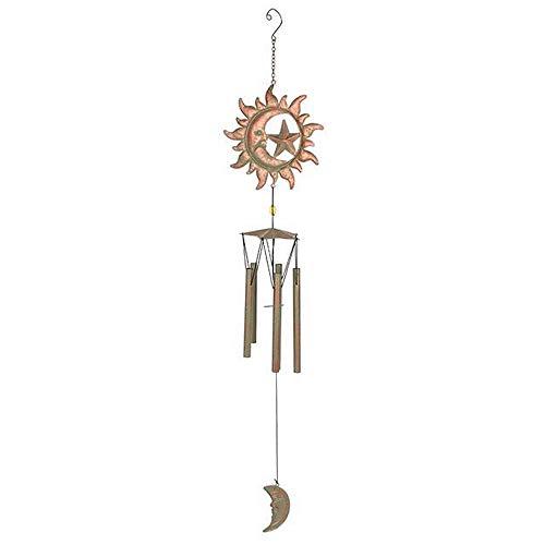 Spirit of Equinox Windspiel, rustikal, Metall, Sonne und Stern