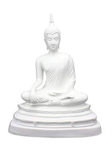 66b2f8c4922ba Thai Buda sentado de porcelana, blanco, aprox. 35 cm de alto