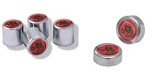 Wincraft Cornell University Big Red Auto-Geschenkset, 4 Reifenventilkappen und 2 Nummernschildschraubenkappen