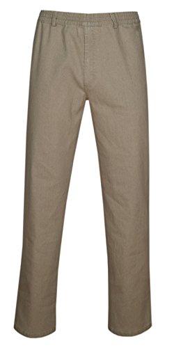 Herren Jeans Stretch Schlupfhose Schlupfjeans ohne Cargo-Taschen-Beige-4XL 804b5c8ea4