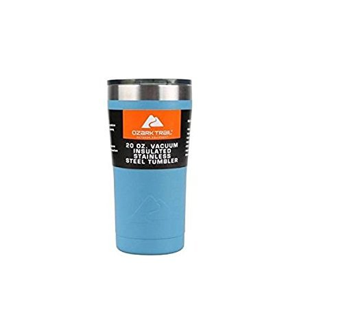 Ozark Trail Outdoor Equipment 20 Oz Vakuum Thermosflasche Edelstahl Tumbler (Robin Egg Blue) -