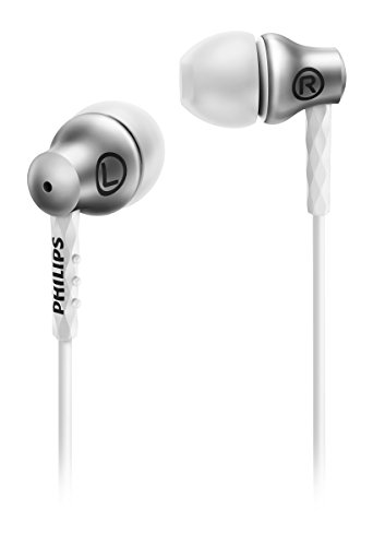 Philips SHE8100SL/00 In-Ear-Kopfhörer (Metallgehäuse, Turbo Bass Technologie) silber