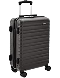 AmazonBasics Hardside Luggage Spinner - 55cm Cabin Size, Black, Approved for budget airlines