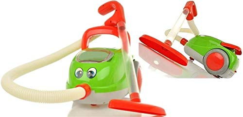Premium Vacuum Cleaner - Kinderstaubsauger mit Saugfunktion Licht & Musik - Staubsauger Spielzeug Sauger Saugrohr Spielzeugsauger mit hohem Spaßfaktor wie Kroko Doc (Marke HUKITECH)