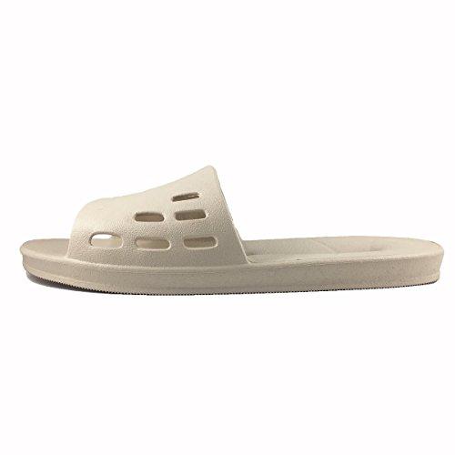 Pantofole causale casa doccia da bagno antiscivolo uomo infradito piscina donna Beige