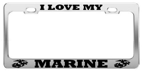 Lionkin8I Love My Marine Vereinigten Staaten US Army Nummernschild Rahmen Tag aus Halterung -