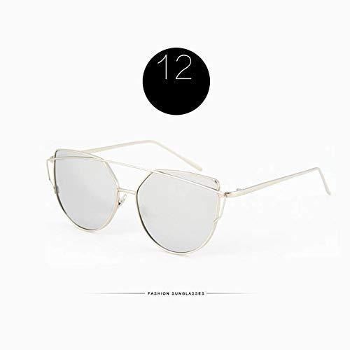 Wghz Cat Eye Sonnenbrille Frauen Zweistrahl Rose Spiegel Objektiv Sonnenbrille Für Weibliche Lentes UV400