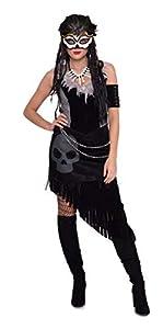 Folat 64054 - Disfraz para mujer, color negro