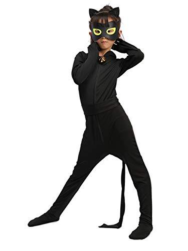 Cat Noir Kostüm Kinder - Yigoo Ladybug und Cat Noir Kostüm