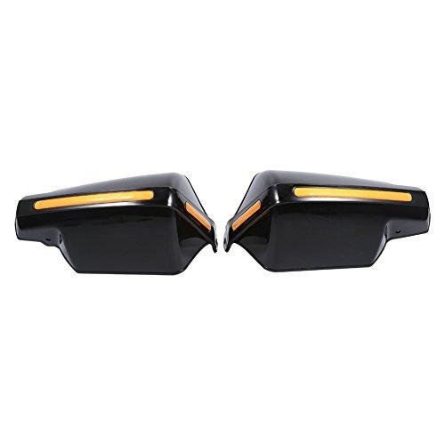 Qiilu 1 Par de Universal Motocicleta Manoplas Protectores Patrón Protectores de Mano(negro)