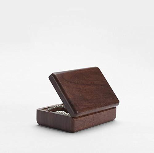 MYMAO Walnuss Holz Handwerk Hand Schmuck Ring Halskette Aufbewahrungsbox europäischen hölzernen Schmuck-Box,12 * 8 * 5 -