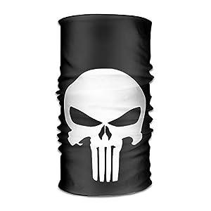 DEFFWBb The Punisher Skull Logo Headbands/Bandana/Face Mask/Yoga Headband/Bandana Headband/Head Scarf/Head Wrap for Unisex