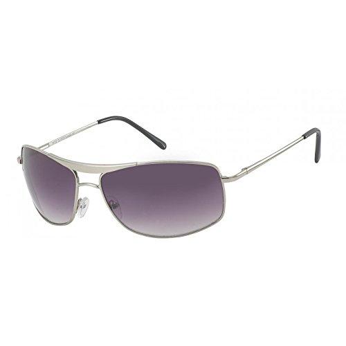 Chic-Net Lunettes de soleil hommes lunettes de soleil aviateur Pornobrille arc teinté 400UV argent gris jshxyKxWak