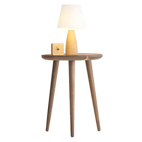 Tables Table Basse Table De Téléphone Table De Chevet Maison Minimaliste Moderne Canapé Côté Bois Massif Salle De Séjour Tables de dos de canapé (Color : Brown, Size : 45 * 45 * 58cm)