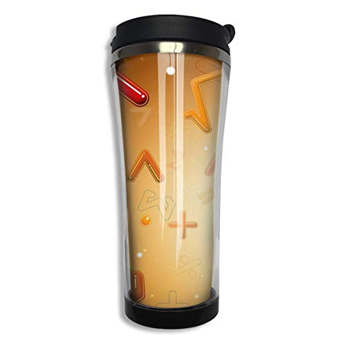 Math Number Formula Equation Insulated Both Cold U0026 Hot Coffee Mug 14 Oz  (420 ML