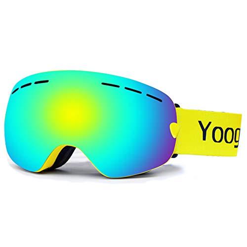 Skibrillen Doppel-Lens UV-Wind Resistance Anti-Glare Linsen Anti-Nebel-System kann in der Nähe von Gläsern platziert Werden geeignet für Snowboard-Snowmobile Skate Mountaining Brille