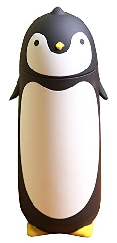 alohha-stainless-steel-cartoon-thermos-water-bottle-for-kids-water-bottle-penguin-black