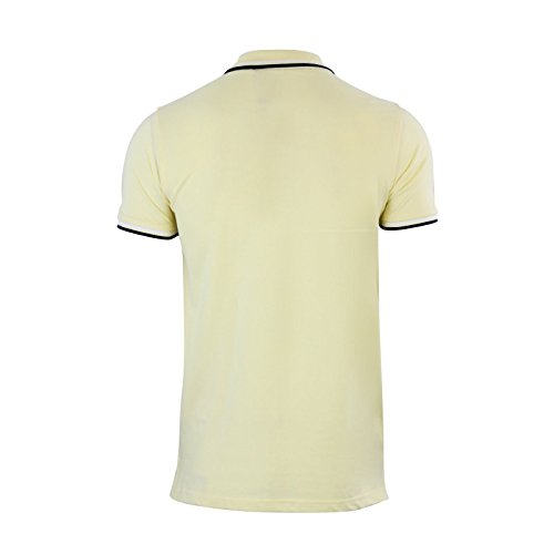 Herren Polo T Shirt Brave Soul Pawlow Trinkgeld Baumwolle Pique Kragen Casual Top Gelb - Zitronengelb