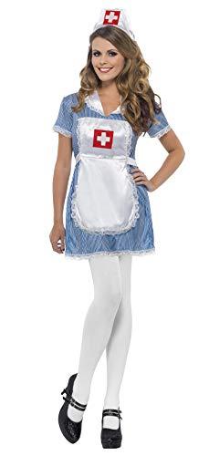 Krankenschwester Kost�m Damen Hospital �rztin Pfleger Nurse Gr. - Blauen Naughty Nurse Kostüm