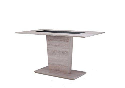 Cavadore 82023 pilastri tavolo legno quercia 110 x 70 x 75 cm in melammina, sonoma