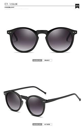 WWVAVA Sonnenbrillen Markendesigner Ellipsenform Mehrfarbige reflektierende Sonnenbrille Frauen Vintage Keyhole Mirror Glasses UV400, c2