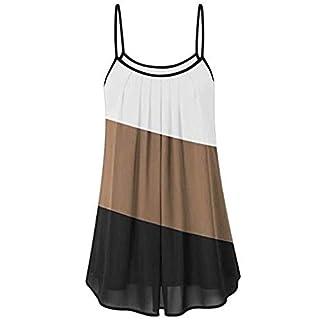 TOWAKM Weste Damen, Frauen Sommer Loser Wrinkled Oblique Streifen äRmelloser Tank Top Weste Bluse