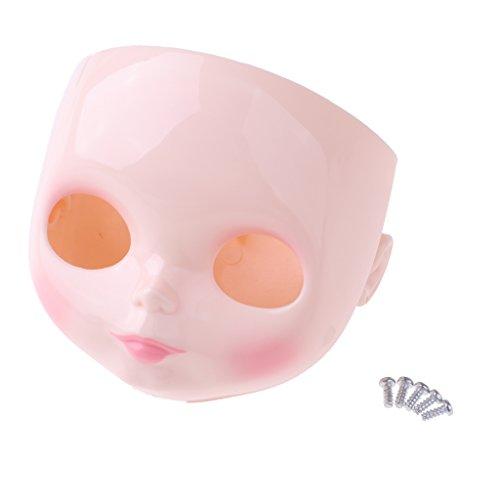 MagiDeal Puppe Faceplate Backplate Kopf mit Make-up Für 12