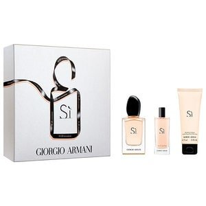 Giorgio Armani Si Set 50ml EDP Eau de Parfum Spray +15ml EDP Eau de Parfum Spray + 75ml Body Lotion
