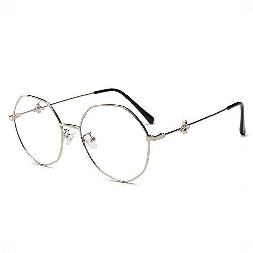 WULE-RYP Polarisierte Sonnenbrille mit UV-Schutz Kleine Biene hellblaue leichte Flache Brillengestell. Superleichtes Rahmen-Fischen, das Golf fährt (Farbe : Silver)