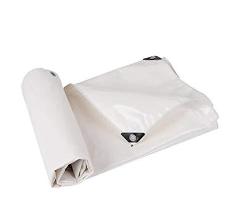 FSBFF Épaississez Le Blanc Bâche, Tissu imperméable à l'eau Bâche de Protection Solaire Tissu à baldaquin extérieur Tente d'ombre Linoléum de Tissu de Pluie Punch