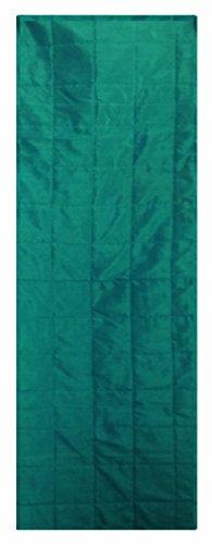 Dupioni Seide (Saffron-Tischläufer, Polyester, Dupioni Seide, einfarbig, lang, 25,4 x 139,7 cm, Blaugrün)