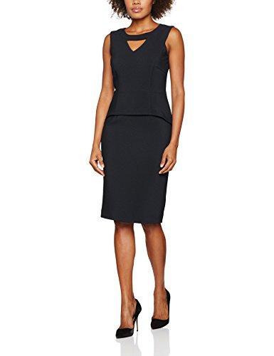 Jacques Vert Women's Peplum Twill Textured Dress