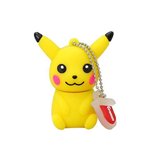 Chiavetta USB di memoria Flash Drive, penna creativa, Pokémon Pikachu Charizard, piccolo fantasma d'acqua cartone animato 4/8/16/32/64 GB, portatile, PC, TV, auto MP3 Pikachu-3 16GB