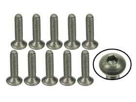 0.5 Socket Head (3Racing RC Model TS-FS4120M #4-40 x 1/2 Titanium Flat Head Hex Socket - Machine (10 Pcs))