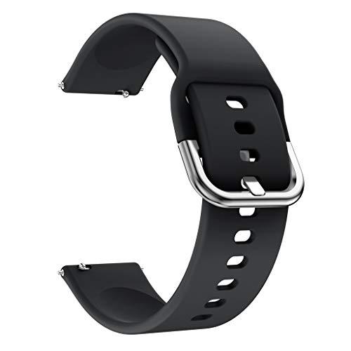Knowin Uhrenarmband 22mm Silikonarmband WristStrap für Xiaomi Huami Amazfit Bip Youth Watch Mi bewegliche Uhr Jugendversion Loopback Silikonband Farbe und Lässig, Unisex Ersatzband