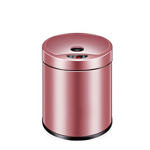 Zlw-shop Secchi per la spazzatura Sensore Automatico Cestino Intelligente Elettrico Bagno Soggiorno Cucina Creativo Grande Cestino 6L8L12L (Color : Pink, Dimensione : M-8L)