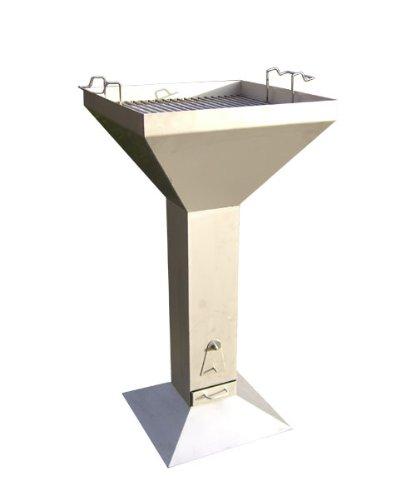 Grill (Trichtergrill) aus Edelstahl mit 500 x 500 mm Grillfläche