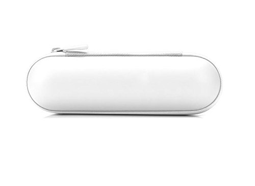 Price comparison product image onewiller Portable Zipper Hard Case Cover Bag Pouch Shell for Beats Pill Speaker Color White