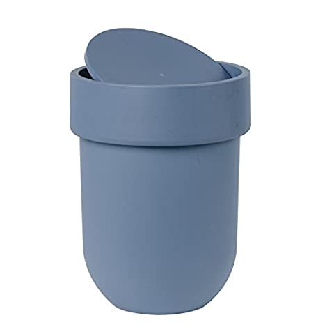 Umbra 023269755Touch Bathroom Waste Can with Lid Rubbish/Waste Bin-Blue