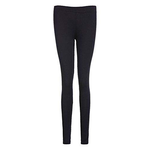 ZKOOO Leggings de Las Mujeres Alta Cintura Pantalones de Yoga Sport Correr Gimnasio Entrenamiento Pantalon Mallas Elastico Negro