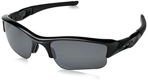 Oakley Herren 12-903 Rechteckig Sonnenbrille, JET BLACK/BLACK IRIDIUM POLARIZED/Black Iridium Polarized (S3)