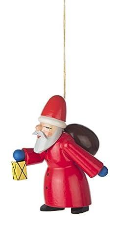 Baumbehang Weihnachtsmann Ruprecht von DREGENO SEIFFEN – Original erzgebirgische Handarbeit, stimmungsvolle Weihnachts-Dekoration